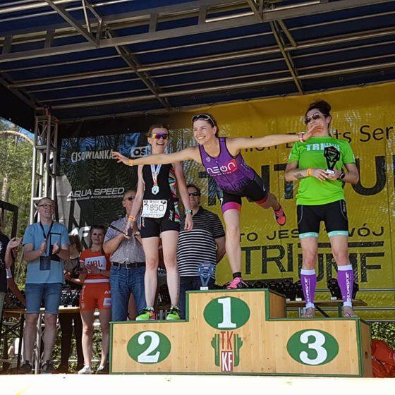 Gosia Solecka na podium