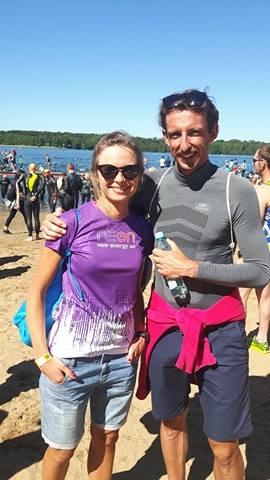 Ola i Paweł Kalinowscy. Tego dnia królowała Ola, która debiutowała w triathlonie