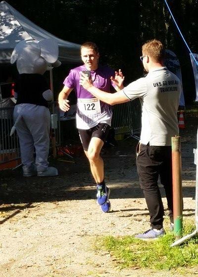 """Jan """"Młody"""" Popławski na trasie Triathlonu Bielańskiego"""
